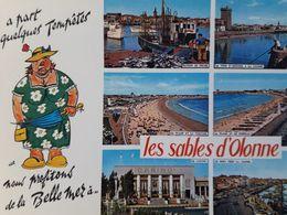 Carte Postale Des Sables D'Olonne, Humour, Multivues, Vendée 85 - Sables D'Olonne