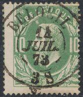 """émission 1869 - N°30 Obl Double Cercle """"Beloeil"""" (1873). Concours ! Collection Spécialisée. - 1869-1883 Leopoldo II"""