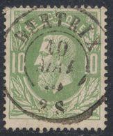 """émission 1869 - N°30 Obl Double Cercle """"Bertrix"""". Superbe Centrage ! / Collection Spécialisée. - 1869-1883 Leopoldo II"""