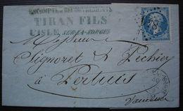 L' Isle-sur-la-Sorgue 1866 Tiran Fils (Vaucluse) GC 1840 Pour Pertuis Vaucluse - 1849-1876: Période Classique
