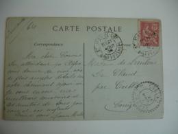 Cublac Facteur Boitier Cachet Perle Obliteratoon Lettre - Storia Postale
