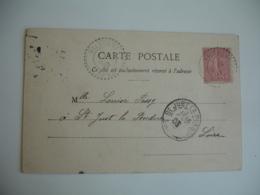 Valsonne  Facteur Boitier Cachet Perle Obliteratoon Lettre - Storia Postale