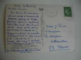 Balmont   Facteur Boitier Obliteration Sur Lettre - Storia Postale