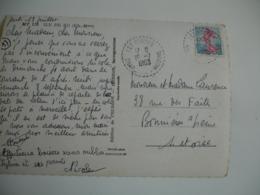 Les Portes 17  Facteur Boitier Obliteration Sur Lettre - Storia Postale