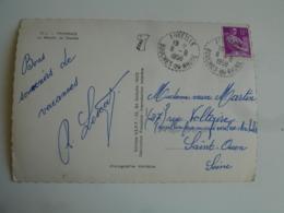 Aureille Facteur Boitier Obliteration Sur Lettre - Storia Postale