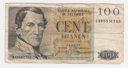 Used Banknote Belgie-belgique100 Frank 1959 - 100 Franchi