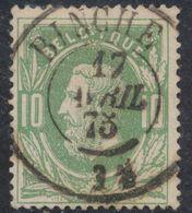 """émission 1869 - N°30 Obl Double Cercle """"Binche"""". Concours / Collection Spécialisée - 1869-1883 Leopoldo II"""