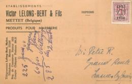 Mettet - Etablissements Victor Lelong-Bert & Fils - Produits Pour Marbrerie - Mettet