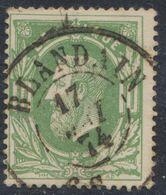 """émission 1869 - N°30 Obl Double Cercle """"Blandain"""". Superbe / COBA : 30. Collection Spécialisée - 1869-1883 Leopoldo II"""