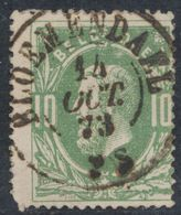 """émission 1869 - N°30 Obl Double Cercle """"Bloemendael"""". TB / COBA : 15. Collection Spécialisée - 1869-1883 Léopold II"""