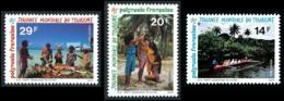 POLYNESIE 1993 - Yv. 440 441 Et 442 **   Cote= 2,45 EUR - Journée Mondiale Du Tourisme (3 Val.)  ..Réf.POL24071 - Neufs