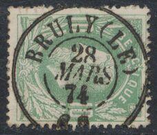 """émission 1869 - N°30 Obl Double Cercle """"Bruly (Le)"""". Concours / COBA : 15. Collection Spécialisée - 1869-1883 Leopoldo II"""