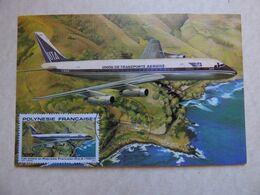 UTA   DC 8    F-BJLB    /  CARTE POLYNESIENNE  IMPRIMEE A TAHITI - 1946-....: Ere Moderne