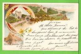 THE ISLE OF WIGHT / CARISBROCKE CASTLE / THE NEEDLES .... / Carte écrite En 1905 - Angleterre