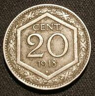 ITALIE - ITALIA - 20 CENTESIMI 1918 - KM 58 - 1900-1946 : Victor Emmanuel III & Umberto II