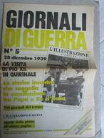 - GIORNALI DI GUERRA N 5 CON POSTER MOTTA  / RIVISTA / WALKOVER EDITORE - Guerre 1939-45