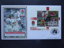GREAT BRITAIN SG 2416MS ENGLANDS VICTORY IN WROLD CUP RUGBY CHAMPIONSHIP POSTMARK RUGBY  FDC - Zonder Classificatie