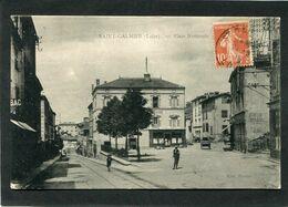 CPA - SAINT GALMIER - Place Nationale, Animé - Altri Comuni