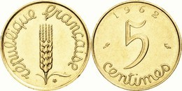 Monnaies, France, Épi, 5 Centimes, 1962, Paris OR PL RARE Edition Limitee OR PL  RARE EDITION LIMITEE PRIX DEPART 1 EURO - Oro
