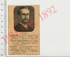 2 Scans Gravure Presse 1892 Portrait Député Flourens Hautes-Alpes Embrun Eugène Deniau Saint-Claude (de-Diray) 51P11-2 - Unclassified