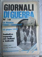 - GIORNALI DI GUERRA N 16 CON POSTER OMBRE ROSSE / WALKOVER EDITORE - Guerre 1939-45