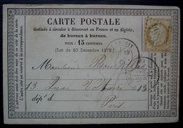 Saint Yrieix 1875 GC 3894 Sur  Carte Précurseur (Haute Vienne) - 1849-1876: Période Classique