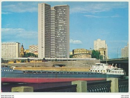 AK  Moskau CMEA Building Mit Schiff Moscow - Barche