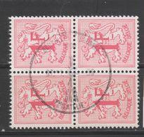 COB 1027B Oblitéré Bloc De 4 - 1951-1975 Heraldic Lion