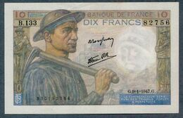 10 Francs 9=1=1947   AUNC / SPL - 1871-1952 Anciens Francs Circulés Au XXème