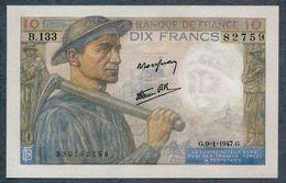 10 Francs 9=1=1947   AUNC / SPL - 1871-1952 Antichi Franchi Circolanti Nel XX Secolo