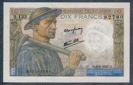 10 Francs 9=1=1947   AUNC / SPL - 1871-1952 Circulated During XXth