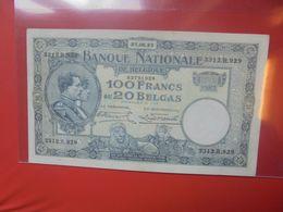 BELGIQUE 100 FRANCS 1932 CIRCULER (B.18) - [ 2] 1831-... : Belgian Kingdom