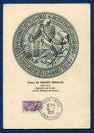 Monaco - Carte Maximum - Sceau De Rainier Grimaldi - 1955 - Cartoline Maximum