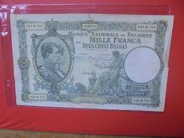 BELGIQUE 1000 FRANCS 1934 CIRCULER (B.18) - [ 2] 1831-... : Koninkrijk België