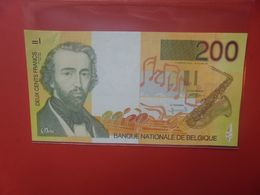 BELGIQUE 200 FRANCS 1996-2001 CIRCULER (B.18) - 100 Franchi