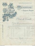 """63 CLERMONT FERRAND FACTURE 1898 Distillerie  Marque """" LE GAULOIS """" Apéritif Au Quina  F. GENESTINE   Z25 Vercingétorix - France"""