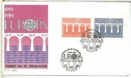 SPD EUROPA CEPT 1984  PUENTE BRIDGE ARQUITECTURA - 1984