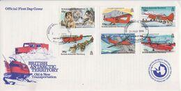 British Antarctic Territory (BAT) 1994 Old & New Transport 6v FDC (BA157) - FDC