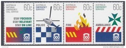 AUSTRALIA, 2010 EMERGENCY SERVICES  STRIP 4 MNH - 2010-... Elizabeth II