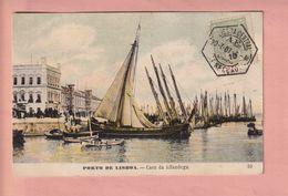 OLD  POSTCARD -  PORTUGAL - LISBOA - CAES DA ALFANDEGA - Lisboa