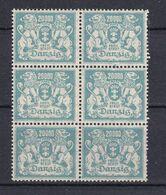 Danzig - 1922 - Michel Nr. 153 Sechserblock Senkrecht - Postfrisch - Danzig