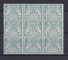 Danzig - 1922 - Michel Nr. 153 Neunerblock - Postfrisch - Danzig