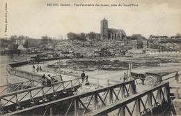 08 RETHEL Dévasté - Vue D'ensemble Des Ruines, Prise Du Grand Pont - Rethel