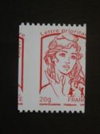 N°4779 - 20g Rouge Prioritaire - LUXE** - Roulette - Massicotage à Cheval - Sans N° Noir - Gomme D'origine - 2013-... Marianne De Ciappa-Kawena
