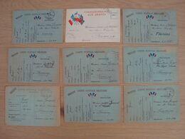 LOT DE 9 CP MILITAIRES CORRESPONDANCES JANVIER A MAI 1940 - Documents