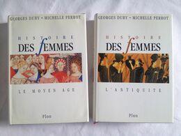 Histoire Des Femmes De Georges Duby Et Michelle Perrot. Tome 1 : L'Antiquité Et Tome 2 : Le Moyen-Age) - Histoire
