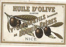 NICE . HUILE OLIVE GOIRAN BOUNIN . ETIQUETTE - Advertising