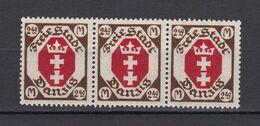 Danzig - 1922 - Michel Nr. 97 Dreier - Postfrisch - 50 Euro - Danzig