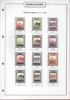 Sahara Español 1924-1975 (37 Hojas) Hojas Din A4 En Cartulina Blanca De 180 Grs. - Album & Raccoglitori