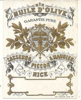NICE . HUILE OLIVE  SASSERNO PICCON MAUNIER. ETIQUETTE - Advertising